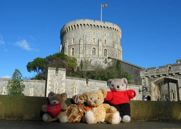 Travelling Bears at Windsor Castle near London