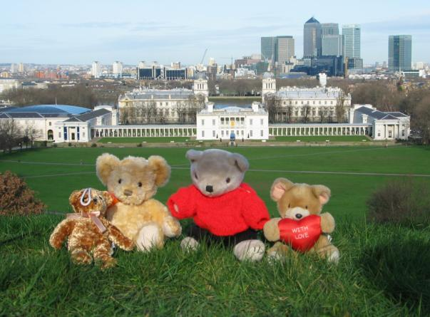 Travelling Bears at the Royal Observatory in London