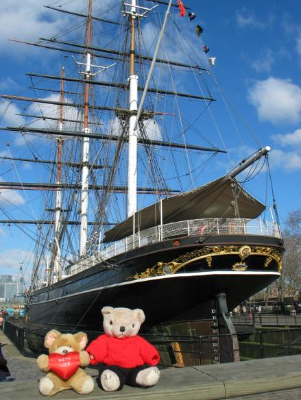 Travelling Bears at the tea clipper Cutty Sark in London